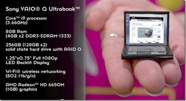 Ultrabook Sony VAIO Q1 Terkecil dengan Core i9