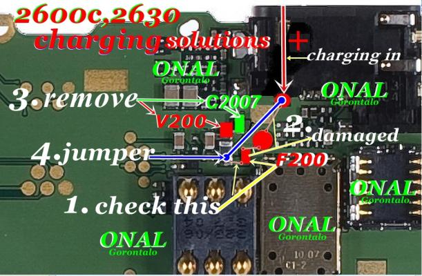 Nokia 2630 Charging Repairing Solution Tips Diagram