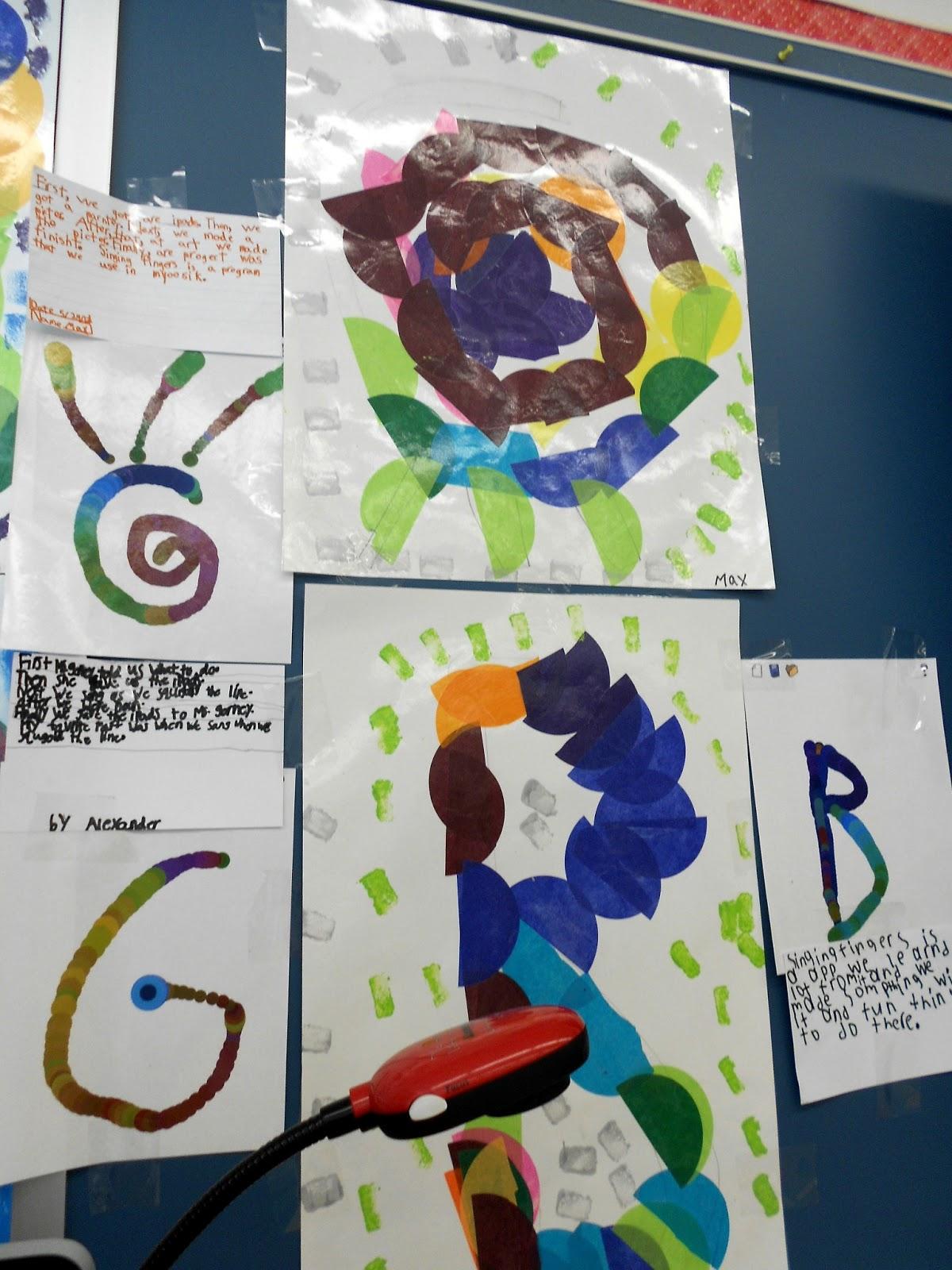 Classroom Walkthrough Ideas ~ Singing fingers an art music ela and technology