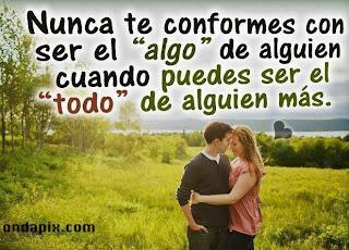 Imagen Nunca Te Conformes Con Ser El Algo (Imagenes para Facebook)