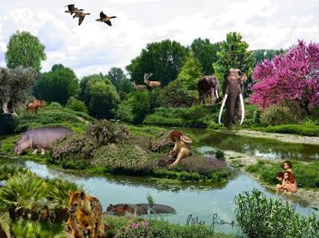 ricostruzione del territorio 200mila anni fa
