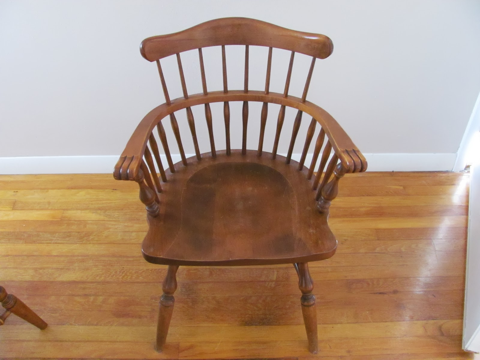 Captain's chair as part of a dining set from Ethan Allen before being sold on Craigslist