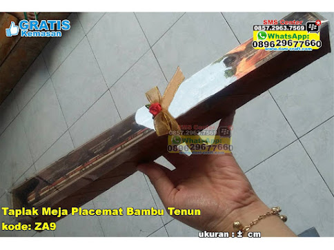 Taplak Meja Placemat Bambu Tenun grosir