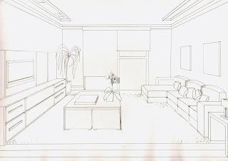 A Desenhar decoração Sala projeto colorir