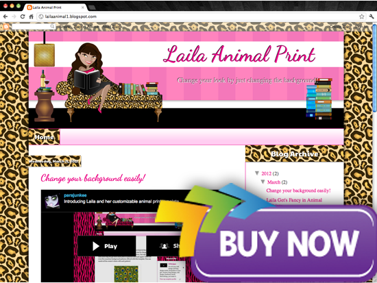 purchase latina Avatar Design Templates   Lailas Book Blogger Design