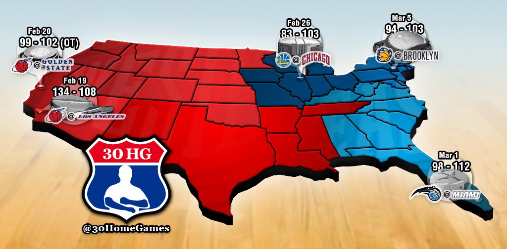 Nba Road Trip 2014 5 Games In 15 Days