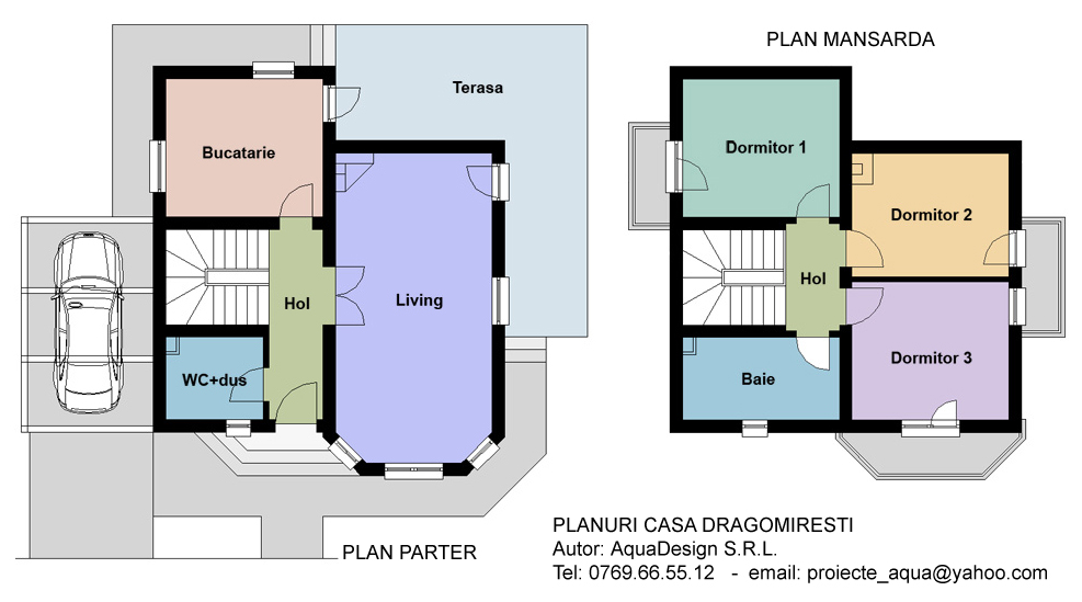 Proiecte case mici proiect casa mica for Proiect casa 2 camere living baie si bucatarie