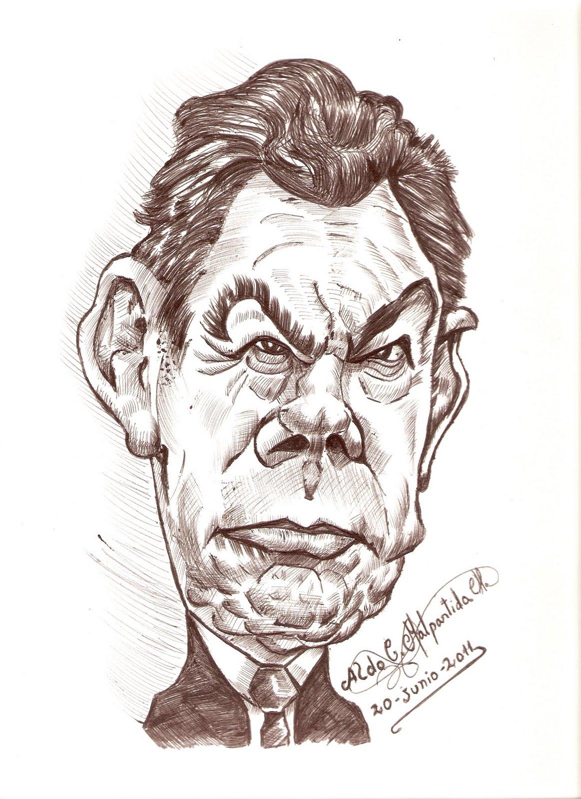 Aldo Dibujo Pintura y Artes: Caricatura de Juan Manuel Santos ...
