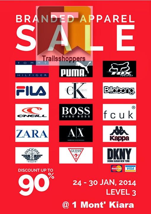 Zara Armani DKNY Dockers GUESS ck Armani Branded Apparel Sale at 1 Mont Kiara Mall Kuala Lumpur
