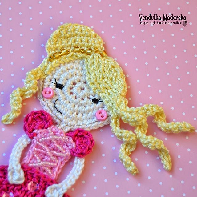 Crochet princess applique pattern