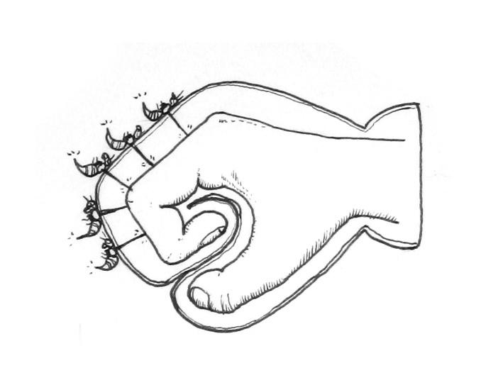 el hombre de la pústula guante avispero