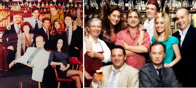 Comparativa del reparto de la Cheers original y su adaptación española