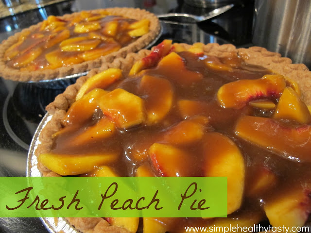 Simple Fresh Peach Pie