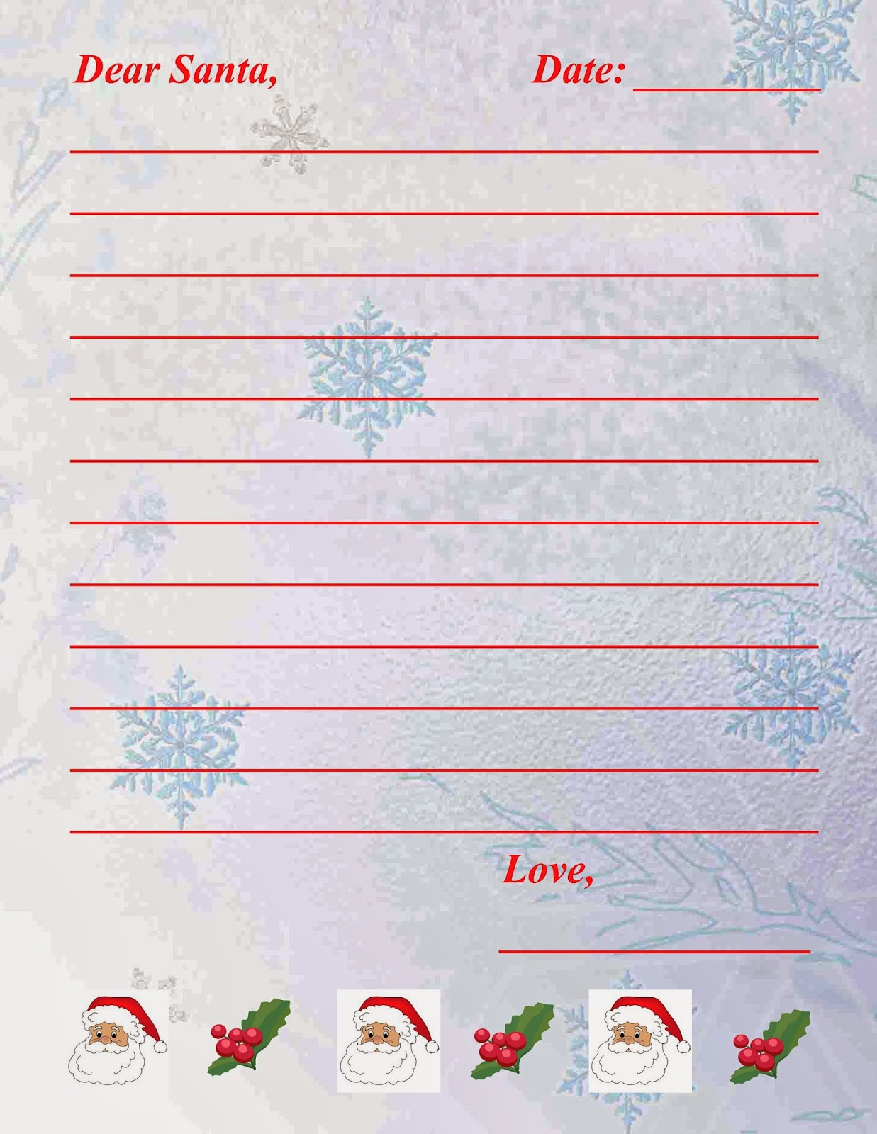 Save Green Being Green Two Printable Letters To Santa