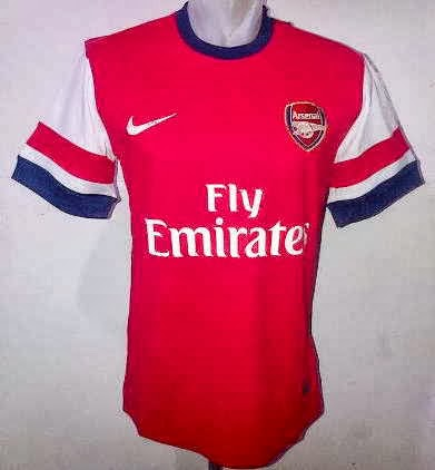 Jersey Bola terbaru Arsenal Home 2013-2014