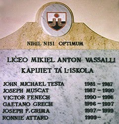 Liceo M.A. Vassalli - Heads of School
