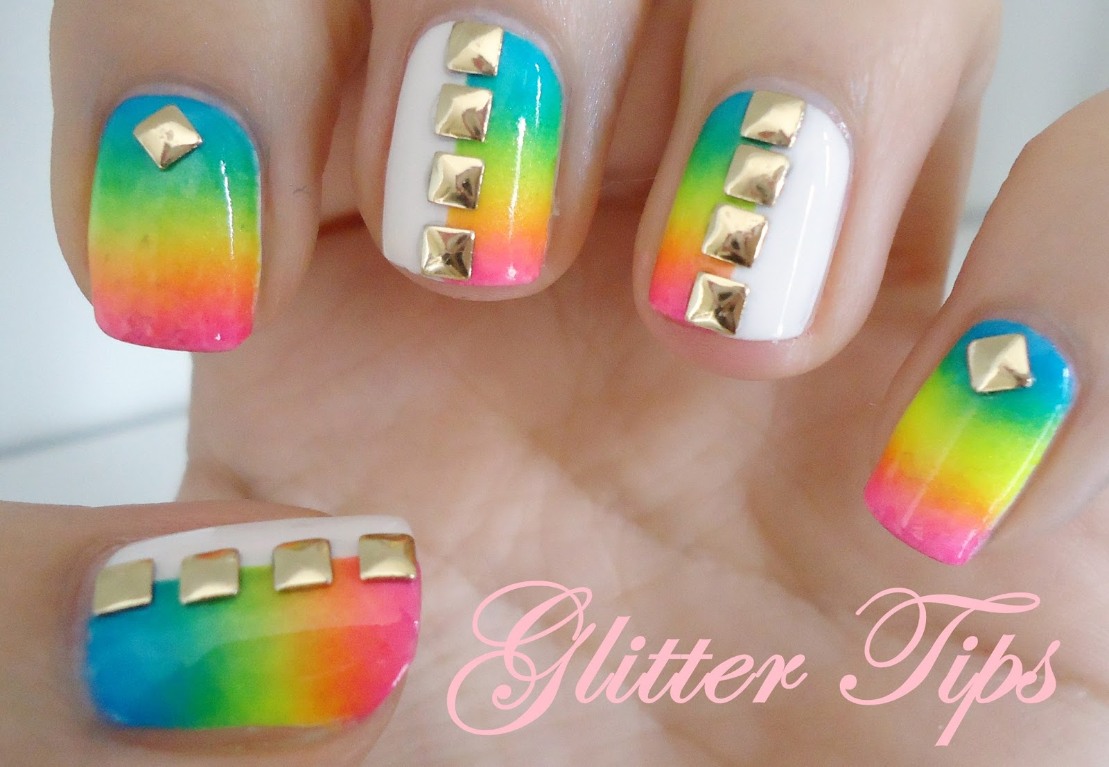 Rainbows Gradients And Studs