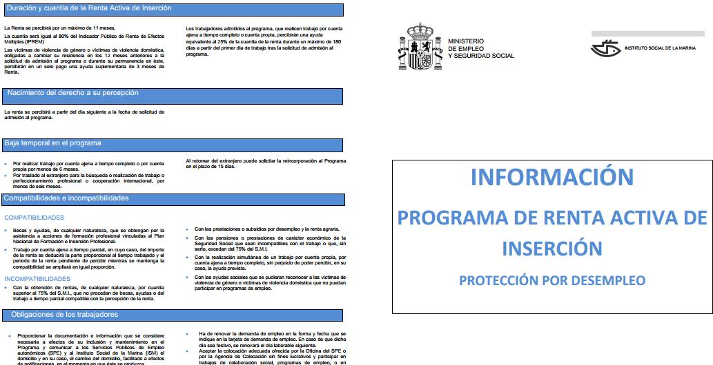 REQUISITOS Y SOLICITUD DE LA RENTA ACTIVA DE INSERCIÓN (RAI)