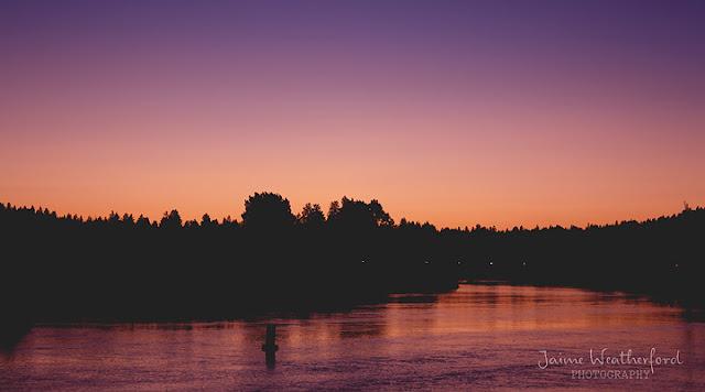 Sunset on the Deschutes Old Mill District Bend oregon Central Oregon Jaime Weatherford