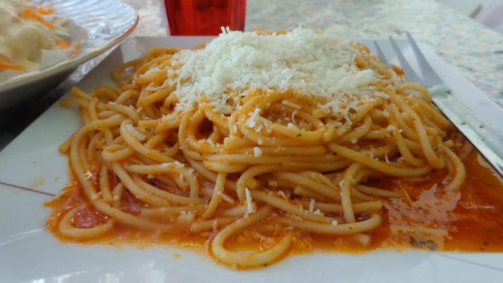 Σπαγγέτι με σάλτσα καρότο