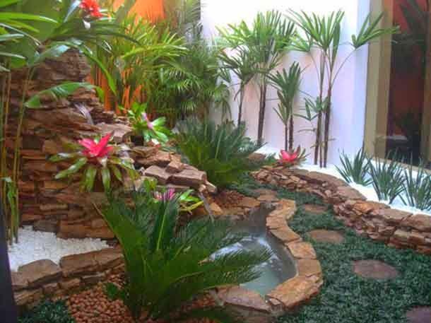 Taman Kolam Minimalis Samping Rumah