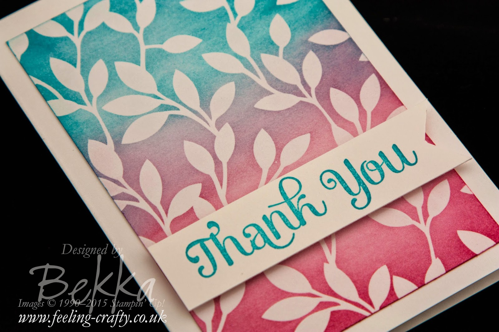 An Easy Way to Colour The Irresistibly Yours Papers from Stampin' Up! - Find out How Here