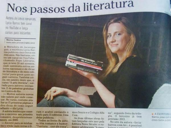 Lycia Barros é destaque no jornal O Globo do RJ
