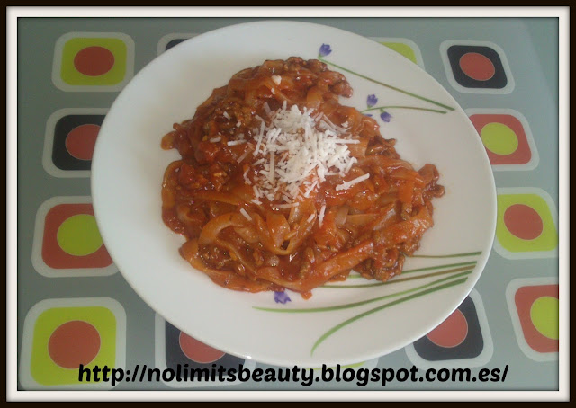 Miracle Noodles (iHerb) a la Boloñesa