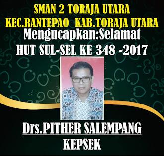 MENGUCAPKAN:SELAMAT HUT SUL-SEL KE 348-2017