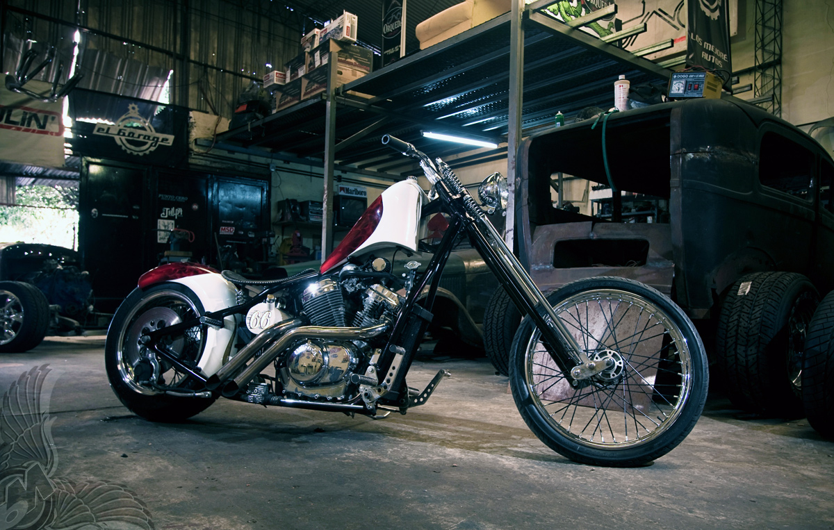 so-cal shadow honda vt600 chopper