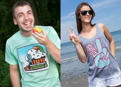 Johnny Cupcakes Summer 2012 Collection - Eat A Cupcake T-Shirt & Peace Hand Tank Top