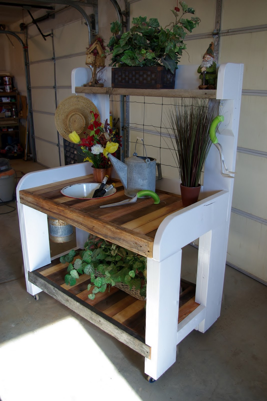 The full service Rustic Potting Bench Whether
