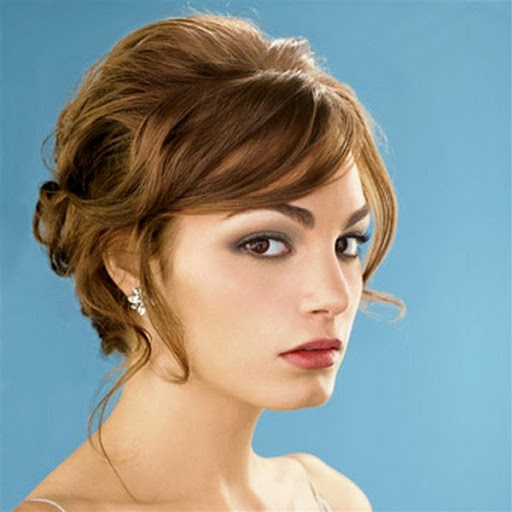 New Short Hair Updos Models for Bridesmaids or Party 2015