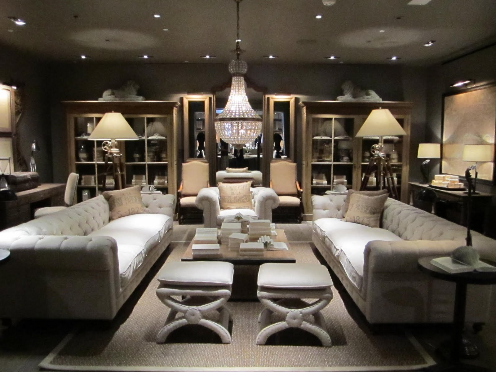 Between The Boxwoods Restoration Hardware New La Showroom