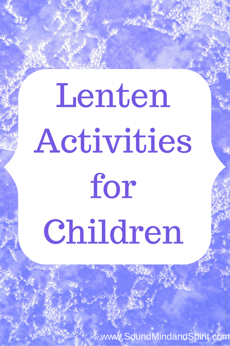 Lent Activities for Children