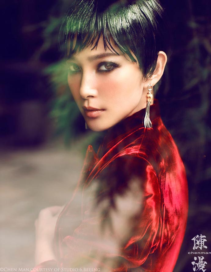 Photo shoot by Chen Man for Vogue China October 2012, starring Li Bingbing, styling by Yoyo Yao