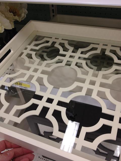 white Target trellis tray