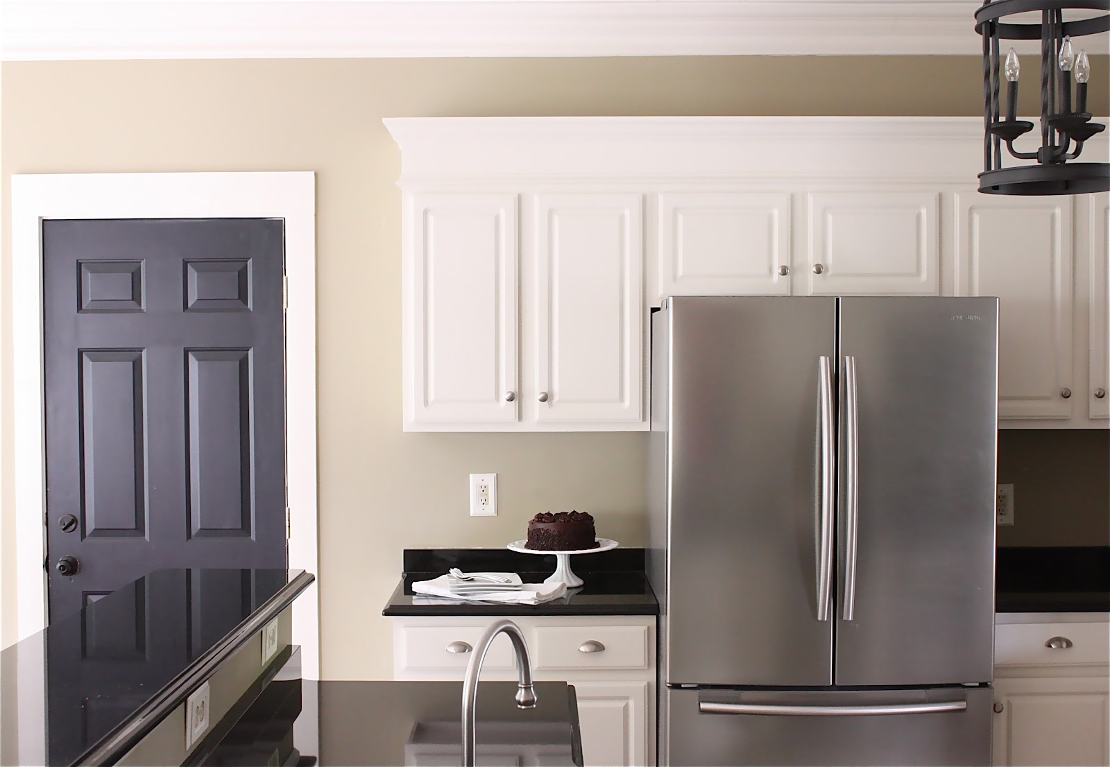 The yellow cape cod my kitchen makeover reveal for Dark paint colors for kitchen