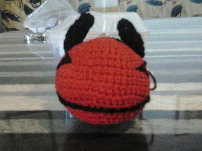 amigurumi, ganchillo, crochet, demonio, llavero