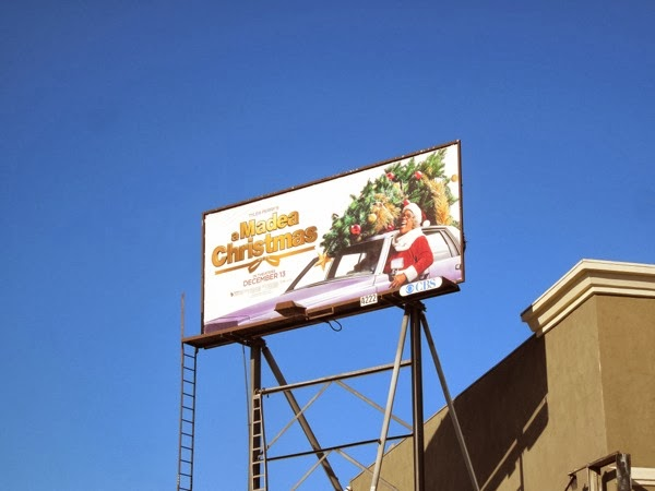 A Madea Christmas movie billboard