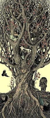 Ilustración inspirada en cuentos de hadas con mucho detalle