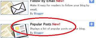 new Popular post blogger