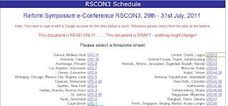 RSCON3 2011 Schedule