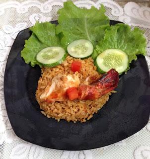 Nasi Goreng Kencur dengan Udang Windu Bakar Menggunakan Lock & Lock E-cook Deco Fry Pan