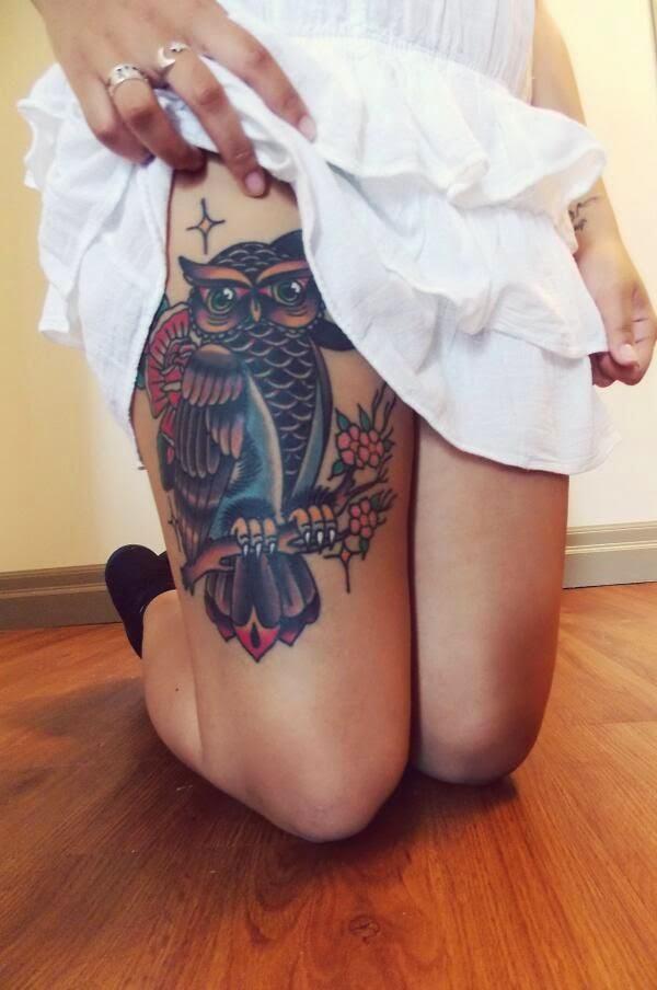 Owl tattoo. Omg I need this