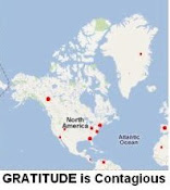 Click on our WORLD GRATITUDE MAP to thank somebody.