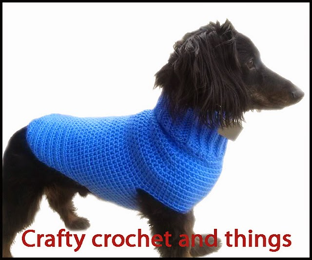Crochet Sweater For Dachshund - Fleece Vest Jacket