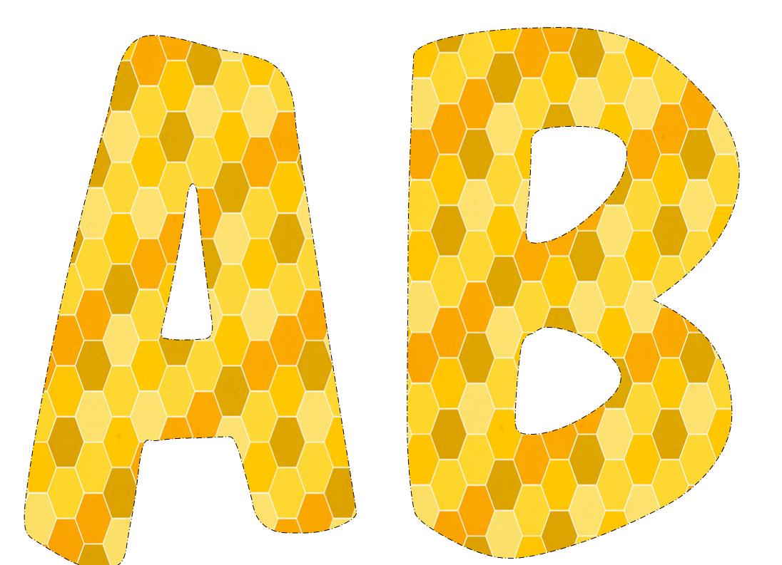 colección de gifs letras amarillas grandes para imprimir