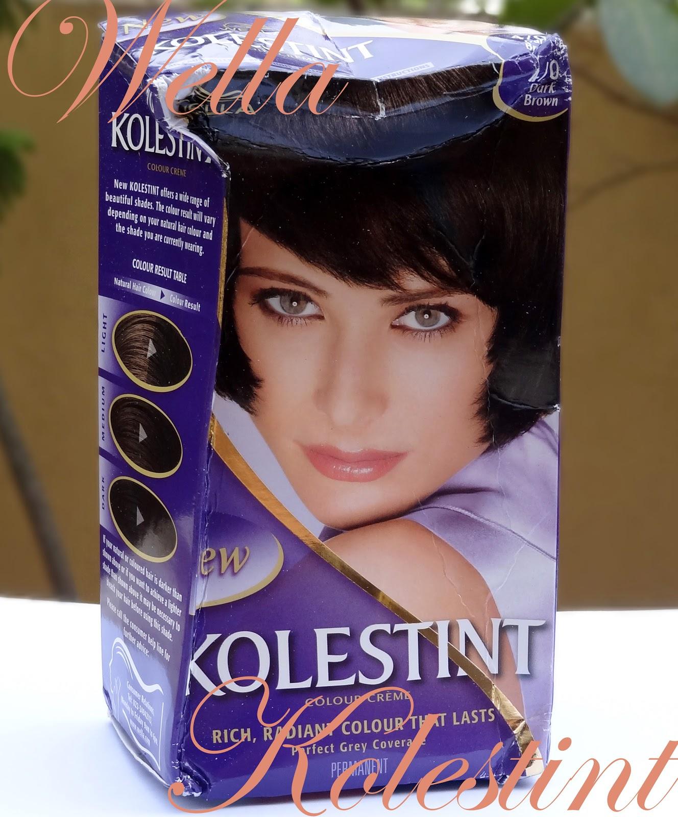 Wella Kolestint Hair Color Review Dark Brown Peachesandblush