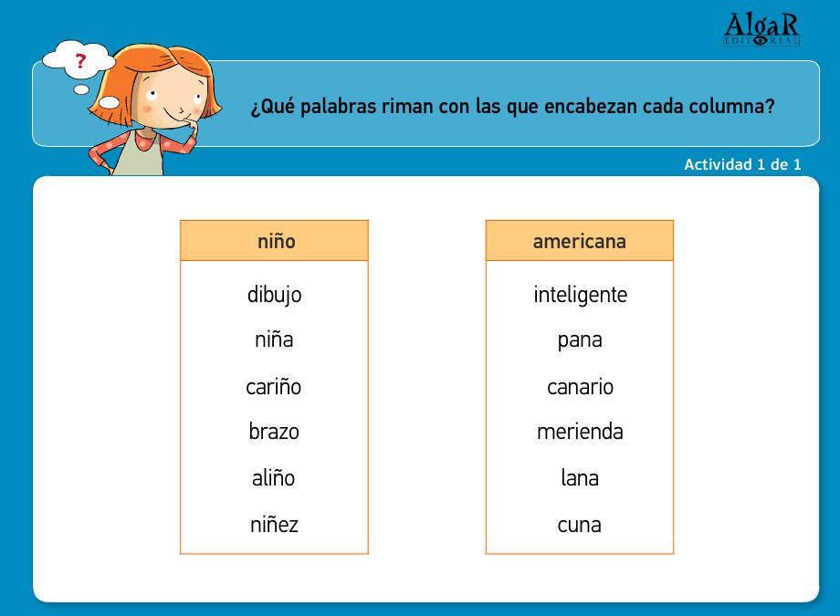 Palabras Que Riman En Ingles